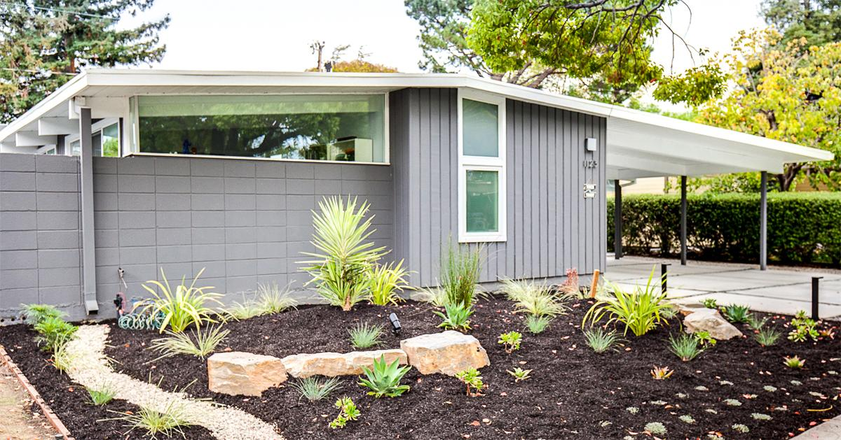 A small Eichler home on Lyons Street