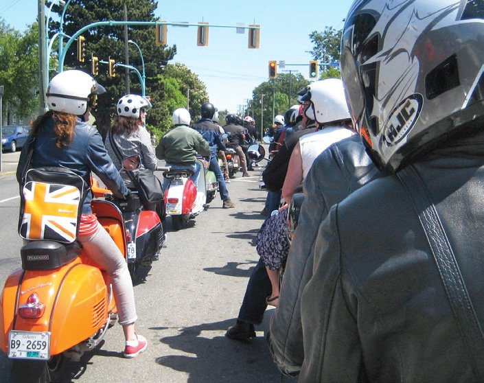 Scooter rally