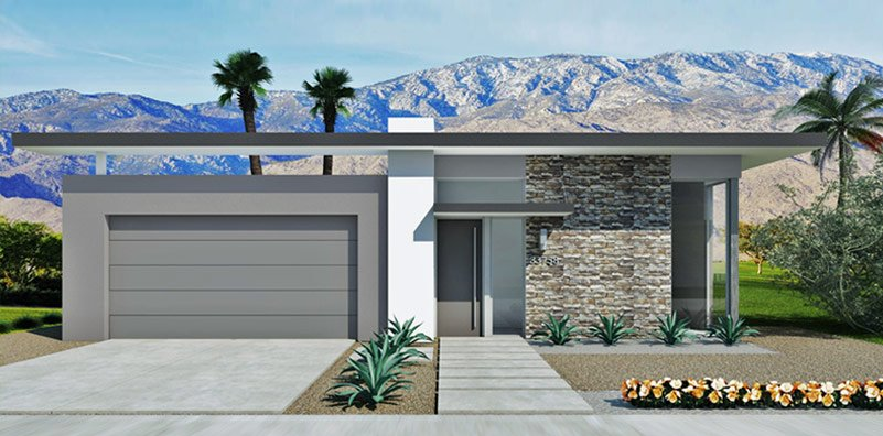 how novel a brand new modernist housing tract in palm springs