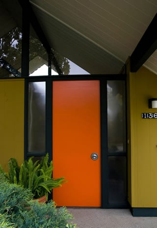 Delightful Eichler Doors Were Also Originally Envisioned By Their Architects And  Builder As Plain And Undecorated Signature Features.