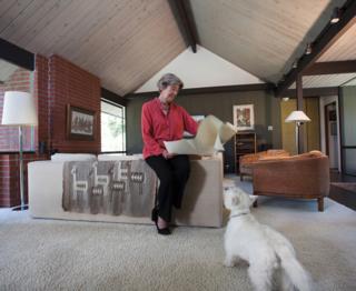 Margaret McKinnon and her pet
