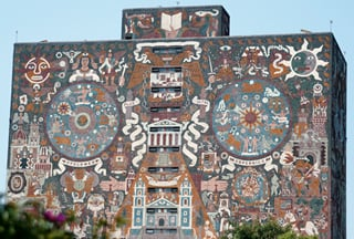 Juan O'Gorman's University of Mexico library mural (1953).