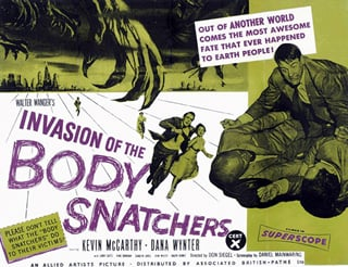Poster for Invasion of the Body Snatchers.