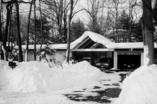 It is a chilling sight - an Eichler actually covered with snow!