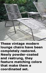 vontage lounge chairs