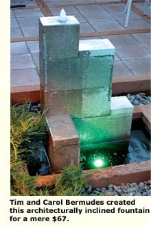 glass fountain