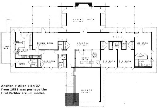 The mystery of the eichler atrium eichler network for Atrium home plans