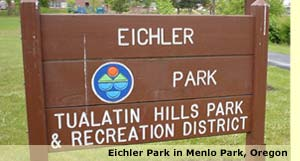 Eichler Park in Menlo Park, Oregon