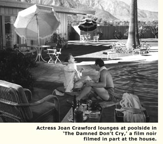 joan crawford poolside in movie scene