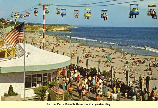 santa cruz boardwalk in the past