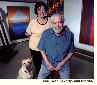 karl benjamin and wife and dog