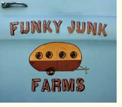 funky junk farm logo on car door