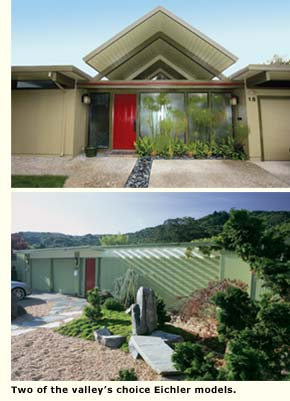 two views of lucas valley eichlers